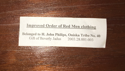 Jadus Donation of Red Men Clothing