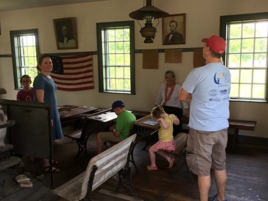 A Local Family Visits the Church Schoolhouse